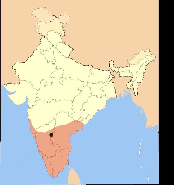 Vijayanagara empireg cultural map of india at 1795 gumiabroncs Gallery